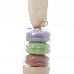 French Macaron Soap set of 4 cookie..