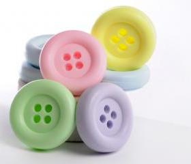 Cute as a button Baby Shower Favor - 20 Button soaps